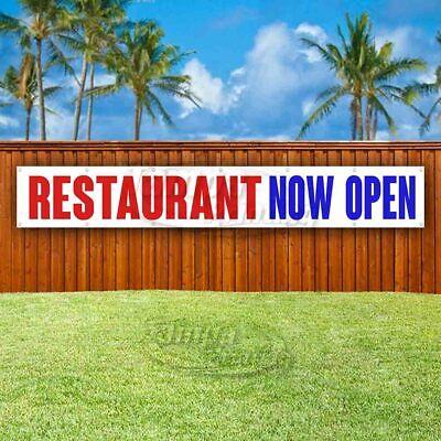 Restaurant Now Open Advertising Vinyl Banner Flag Sign Large Huge Xxl Size