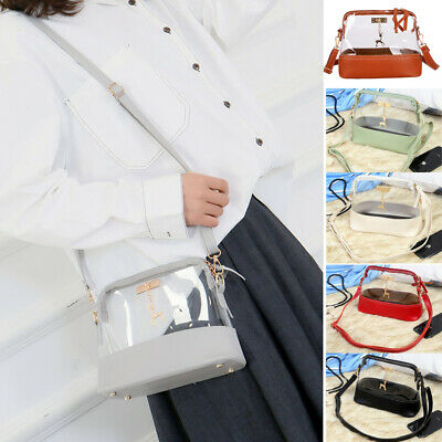 Pvc Fashion Bag - Fashion Women Transparent PVC Clear Jelly Bag Tote Handbag Shoulder Bag Purse US