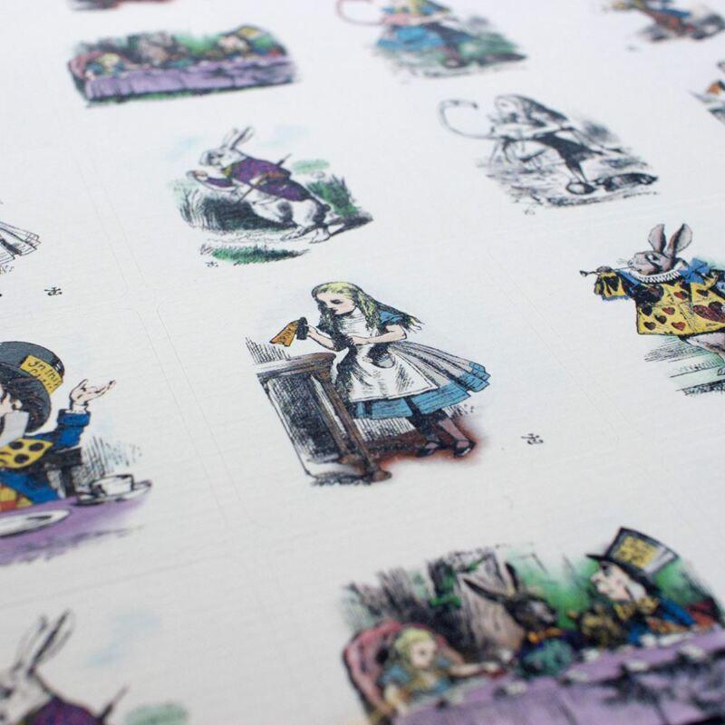 Alice In Wonderland Stickers | Craft Scrapbook Wedding Tea Party x35