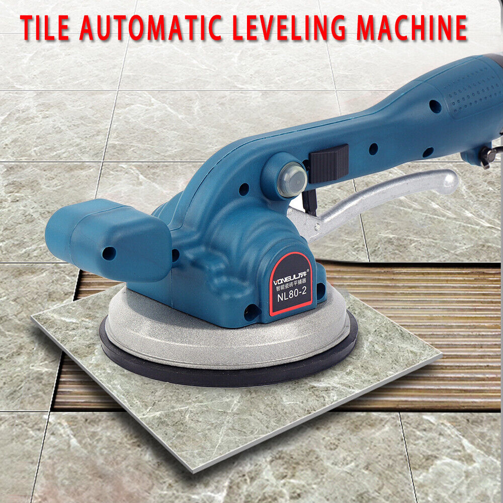 LianDu Automatic Tile Leveling Machine Tile Vibrator Vibration Leveling Tiler Tile Laying Leveling Leveler Installation Tool with Rechargeable Battery Applicable Tiles: 30-100cm // 12-40