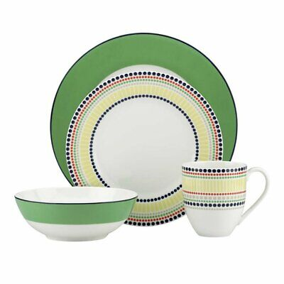 Kate Spade New York Hopscotch Drive Green Dinnerware 4-Piece