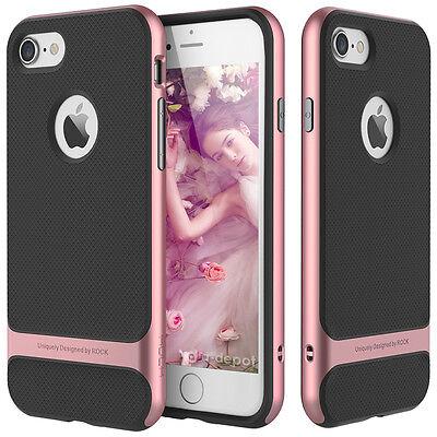 For Apple iPhone 8 7 Plus Slim Shockproof Hybrid Hard Bumper Soft Rubber Case