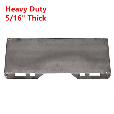 516 Steel Quick Tach Attachment Mount Plate Skid Steer Loader Bobcat Kubota