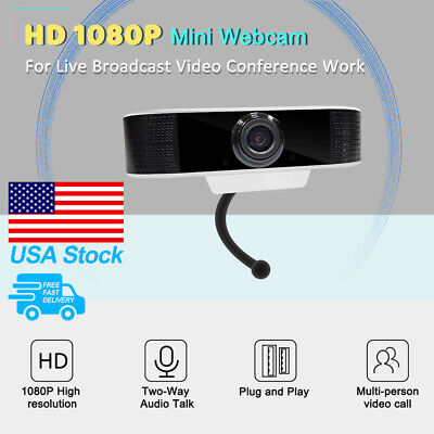 Webcam 1080P USB Plug&Plug Full HD Video Camera for Computers PC Laptop Desktop
