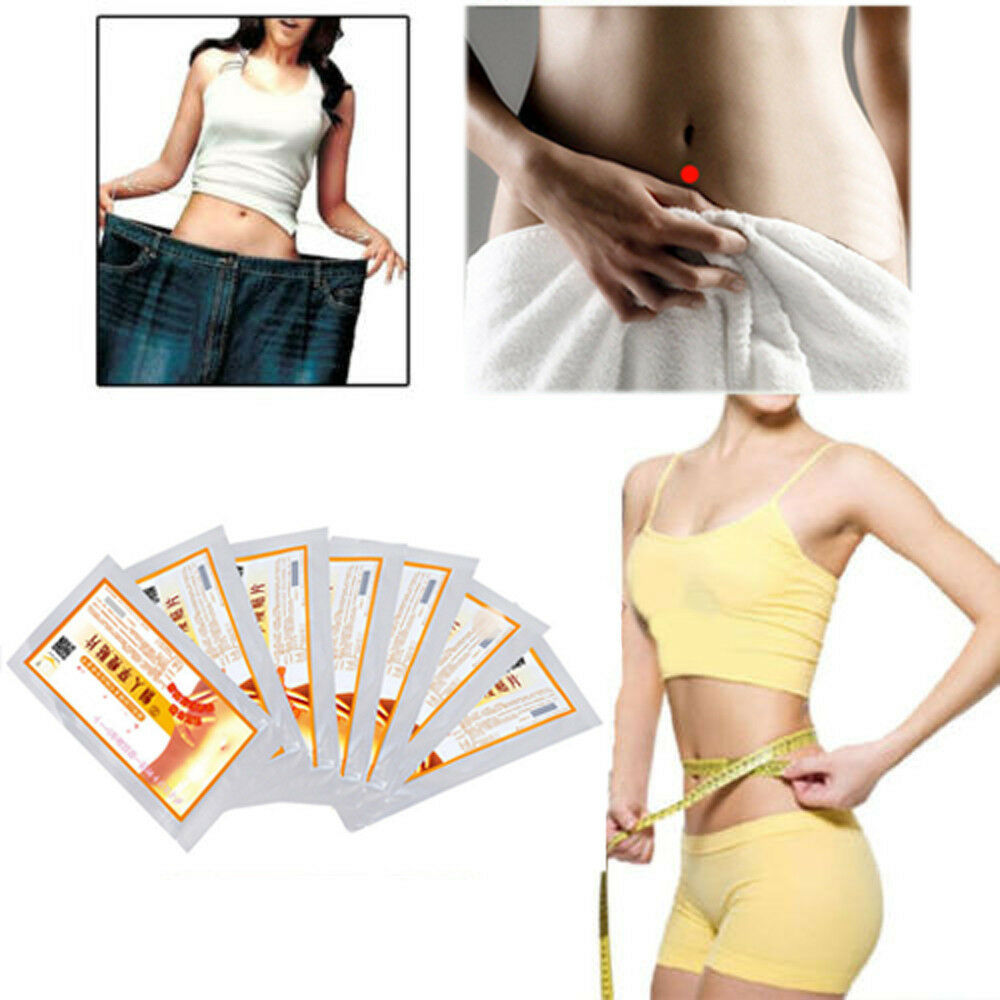 100pcs Slim Trim Patches Diet Slimming Weight Loss Detox Adhesive Pads Burn Fat
