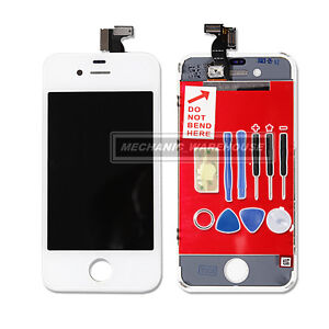 Replacement LCD Screen And Digitizer For Apple iPhone 4 in White -Tools Included