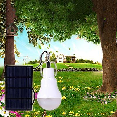 Lampe Panneau Solaire Energie LED Extérieur Jardin Lumière Patio Ampoule Décor