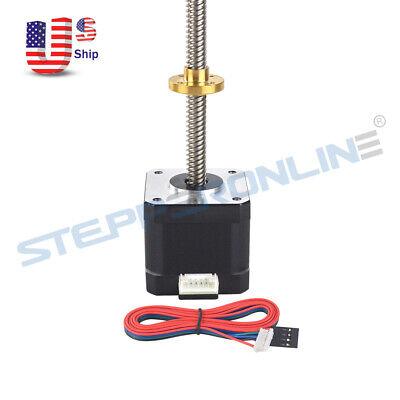 310mm T8 Screw Rod Nema 17 Lead Screw Stepper Motor 42ncm Z Axis For 3d Printer