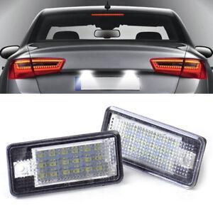 2Pcs 18 LED Error Free License Plate Light Lamp For Audi A3 A4 B6 B7 A6 A8 Q7