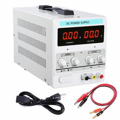 110v Ac 30v 10a Digital Dc Power Supply Precision Variable Test Equipment Tool