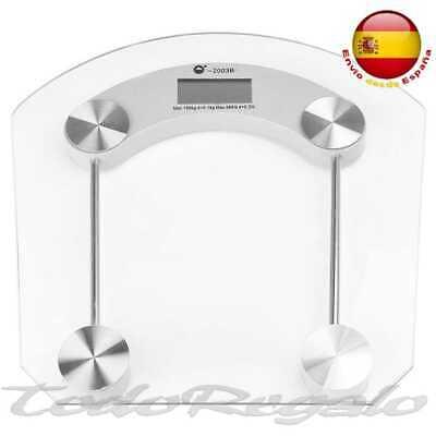Bascula de Baño 180Kg Digital Peso Cristal Transparente Moderna Pesador 2003 B