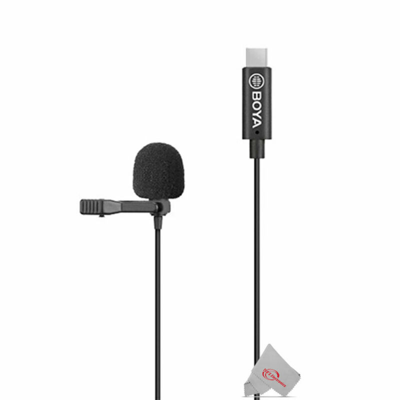 Boya BY-M3 Digital Omnidirectional Lavalier Microphone USB-C Cable for Android
