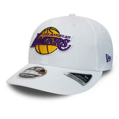 New Era Men NBA Los Angeles Lakers White 9FIFTY Stretch Snap 9FIFTY Snapback Cap