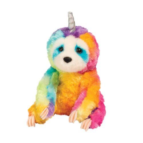 LINNEA Plush RAINBOW SLOTHICORN Sloth Stuffed Animal - Douglas Cuddle Toys #4185