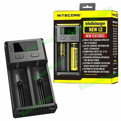 Chargers Original Nitecore I4 Battery Charger 18650 14500 16340 26650 Lcd Li-ion Charger 12v Input Charing For A Aa Aaa Batteries To Prevent And Cure Diseases Accessories & Parts