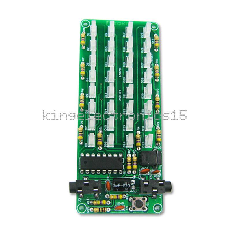 NEW Level Indicator Audio Spectrum 8x4 Voice Spectrum Lights Red+Blue Display
