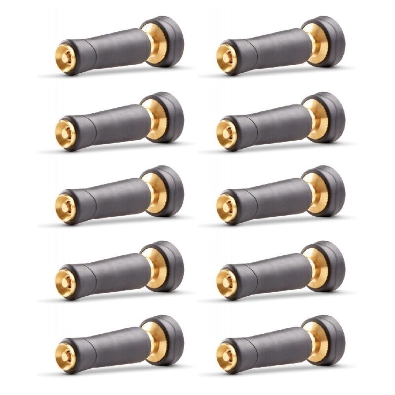 Gilmour 805282 Hose Twist Nozzle Brass With Rubber Grip Adjustable Spray 10-Pack