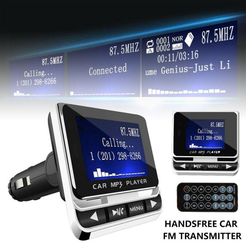 """Wireless Car Bluetooth FM Transmitter 1.4"""" LCD USB Fast Char"""