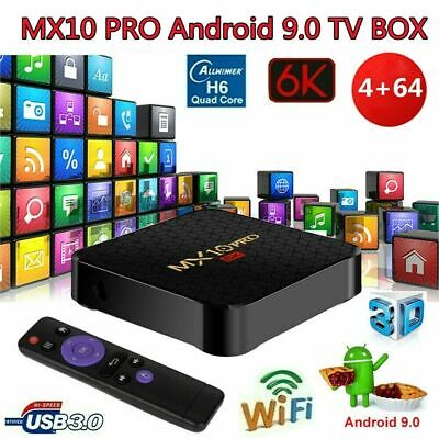 MX10 PRO TV Box 4 GB + 64 GB Android 9.0 H6 4K Media Player 6K 2.4G WiFi W1Y9