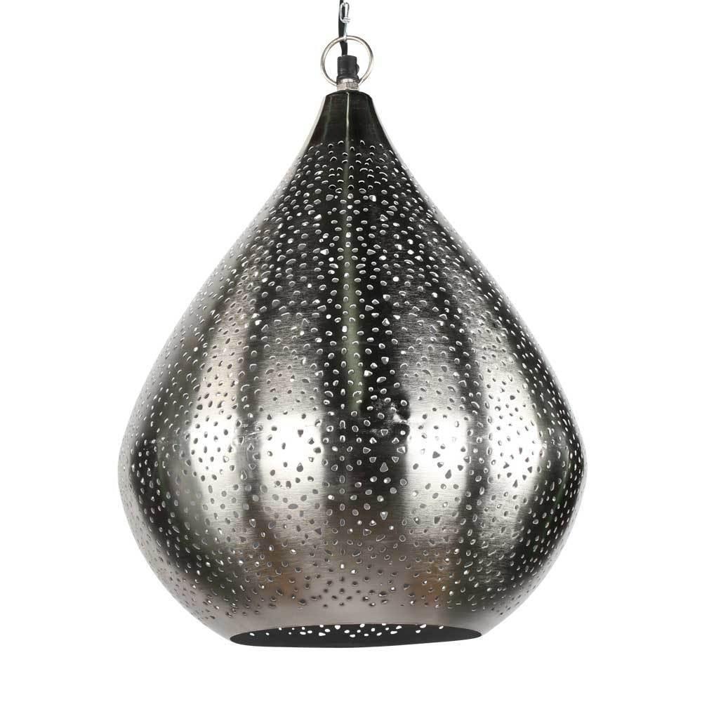 orientlampe orientalische h ngelampe silber tropfen. Black Bedroom Furniture Sets. Home Design Ideas