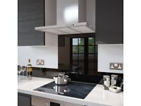 Premier Range - Black Toughened Safety Glass Splashback - 90cm Wide x 60cm High