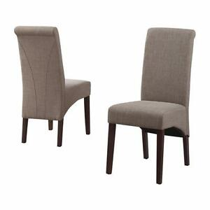 Avalon Fabric Parsons Chair by Simpli Home NEW