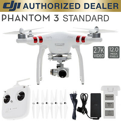 DJI Phantasm 3 Standard Quadcopter Drone 2.7k Camera 3-Axis Gimbal