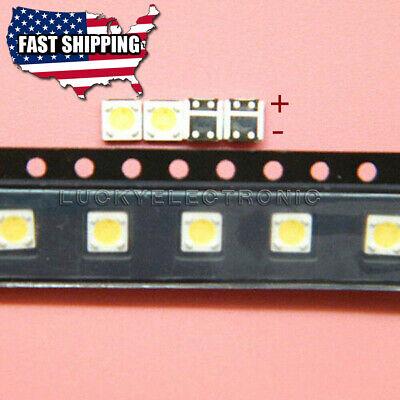 100Pcs 3535 SMD Lamp Beads 3V For LED TV Backlight Strip Cool White Light