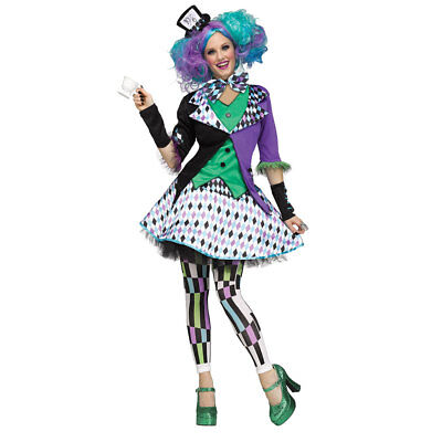 Womens Mad Hatter Purple Halloween Costume - Mad Hatter Woman Costume