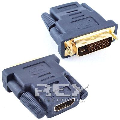 Adaptador HDMI Hembra DVI-D Macho (24+1) Conector Conversor XBOX PLAY Negro v93 comprar usado  Enviando para Brazil