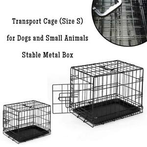 NEW dibea DC00490, Transport Cage (Size S) for Dogs and Small Animals, Stable Metal Box, Folding, 1 Door Condtion: Ne...