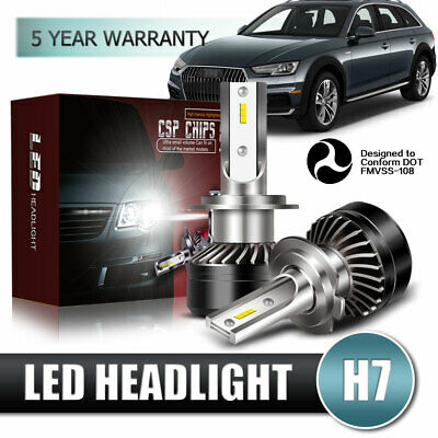 H7 LED Headlights Bulbs Kit High Beam 60W 12000LM 6000K White Plug And Play (Best Electric Bike Kit 2019)