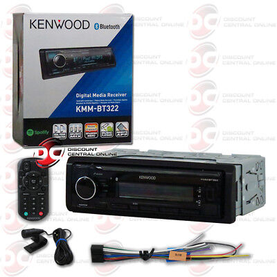 New Kenwood Kmm Bt322 1Din Car Audio Digital Media Stereo Usb Bluetooth   Remote