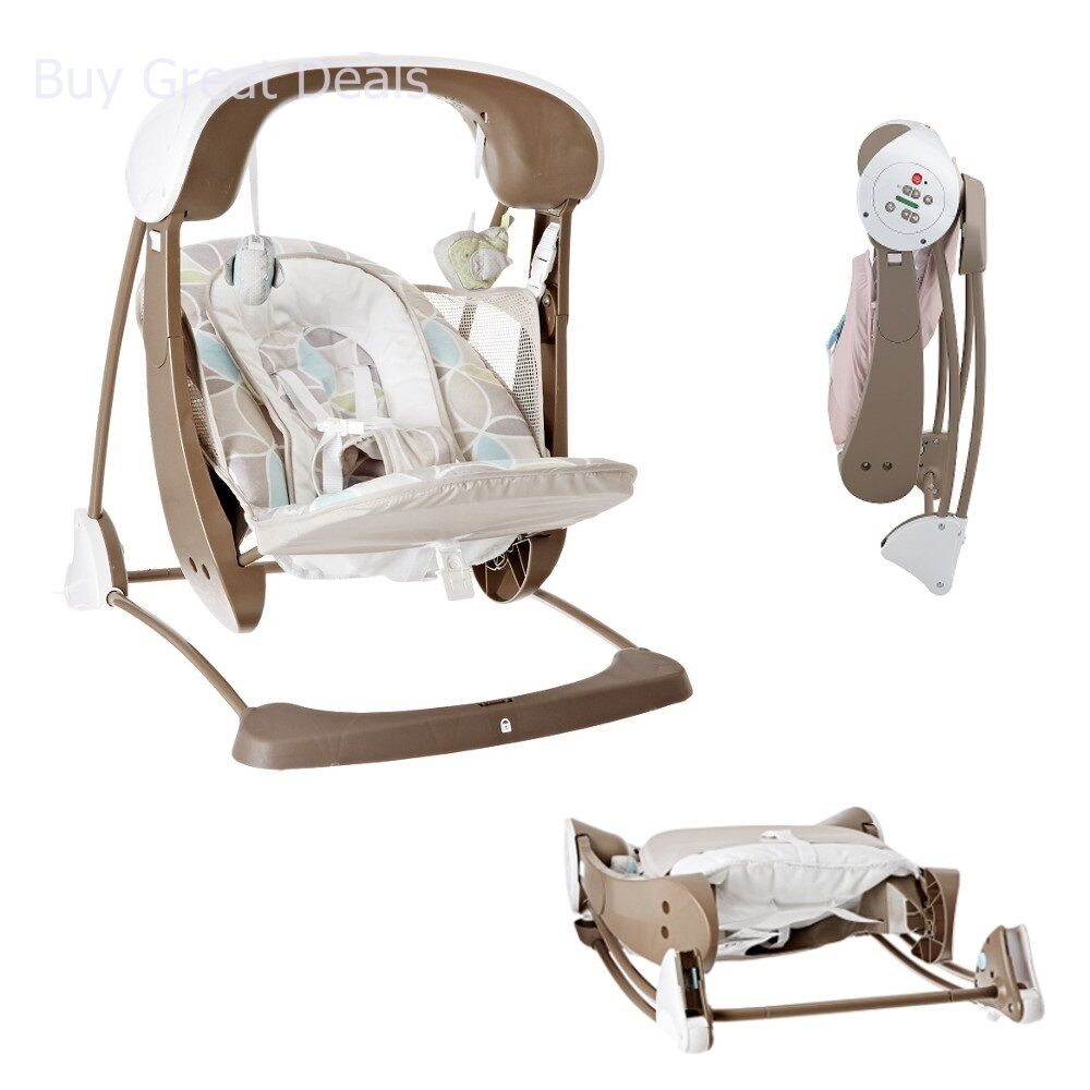 Details about Fisher-Price CJV03 Deluxe Take Along Swing and Seat, Portable  Baby Swing & Seat