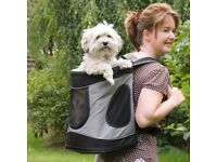 Trixie padded shoulders dog carrying backpack.