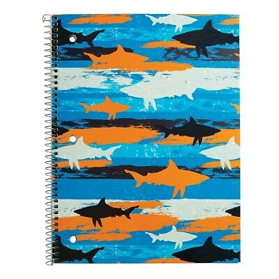 Staples 1 Subject Notebook Wide Ruled Sharks 8 X 10-12 2842740