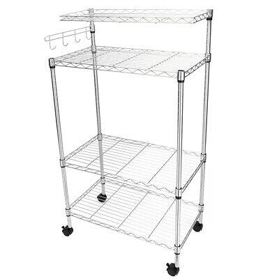 4 Tier Kitchen Rack Shelf Microwave Oven Storage Cart Workstation Home Saving