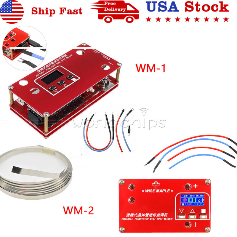 DC 12V Portable Transistor MINI Spot Welder + Liquid Crystal Display WM- 1 WM-2