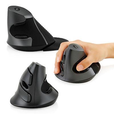 delux 2 4g wireless optical ergonomic up right vertical usb mouse mice 1600dpi 649558339257 ebay. Black Bedroom Furniture Sets. Home Design Ideas