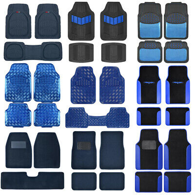 Blue All Weather Heavy Duty Universal Car Floor Mats for Auto Van Truck SUV