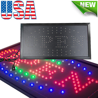 Visible Led Light Flash Motion Business Open Sign Chain Switch Bar Shop