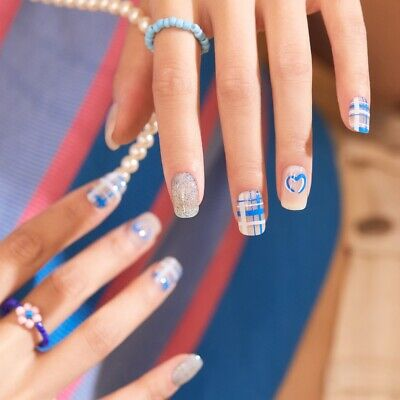 [ohora] Self Gel Nail art patch 30pcs N Love-Love-Love Pink