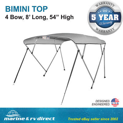 New Pontoon  Bimini Top Boat Cover 4 Bow 54