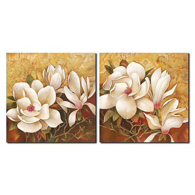 Canvas Print Painting Picture Landscape Decor Home Wall Art Flowers Brown Framed