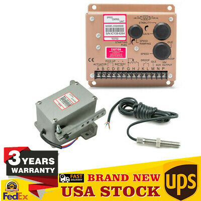 Electronic Engine Speed Governor Speed Controller Esd5500e Speed Sensor Control