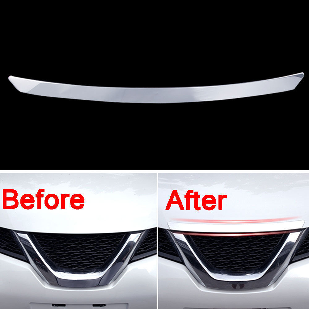 Front Bumper Bar Trims For Nissan Rogue XTrail T32 Chrome Grille Grill Air Cover