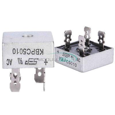 50a 250a 1000v Metal Case Single Phases Diode Bridge Rectifier Kbpc5010