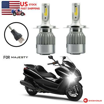 🔥Fit Yamaha Majesty Vino Zuma Scooter 100W LED Super White Headlight Bulbs Lamp