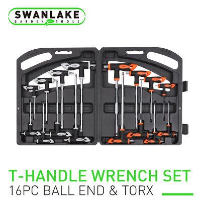 Ball Torx Wrench Set (16 Piece T-Handle Allen wrench Set Long Arm Ball End Hex Key Torx Star Key Set )