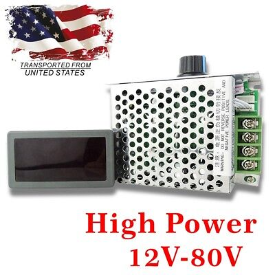 Dc 12-80v 30a Digital Display Led Pwm Hho Rc Motor Speed Regulator Controller